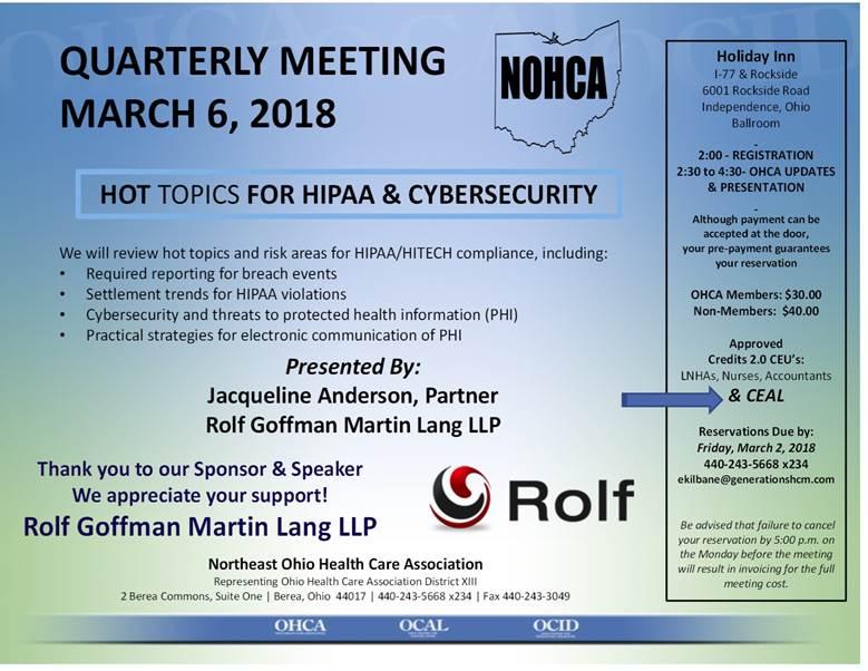 NOHCA Rolf Goffman Martin Lang LLP